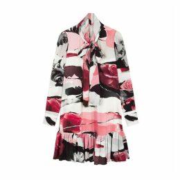 Alexander McQueen Floral-print Silk Crepe De Chine Dress