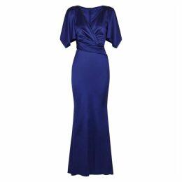 Talbot Runhof Socotra Royal Blue Satin Gown