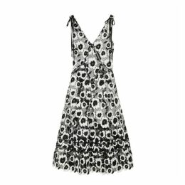 Self-Portrait Monochrome Floral Guipure Lace Midi Dress