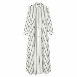 Palmer//harding Casablanca White Cotton-blend Shirt Dress