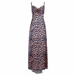 WEST SEVENTY NINE Dreamer Leopard-print Satin Dress