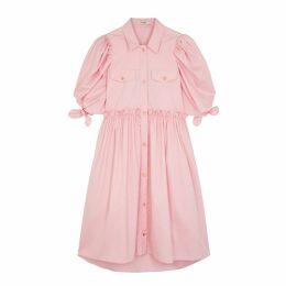 Brøgger Ally Pink Cotton-blend Shirt Dress