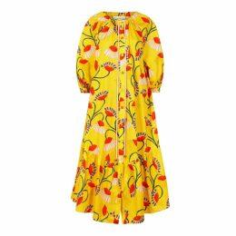 Borgo De Nor Natalia Floral-print Cotton Midi Dress
