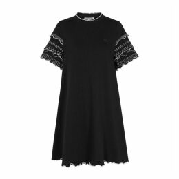 McQ Alexander McQueen Black Stretch-cotton Mini Dress