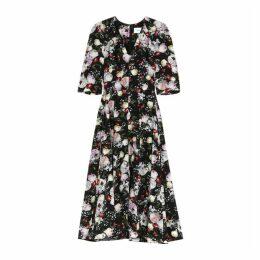 Erdem Cressida Floral-print Silk Midi Dress