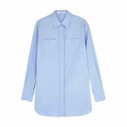 Givenchy Blue Cotton Poplin Shirt
