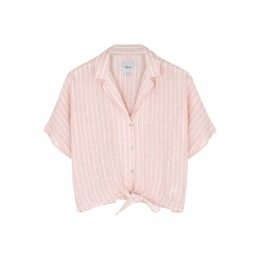 Rails Marley Striped Linen-blend Shirt