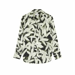 Equipment Slim Signature Leaf-print Shirt
