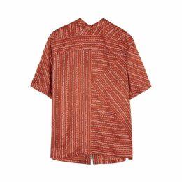 Chloé Rust Printed Silk Blouse