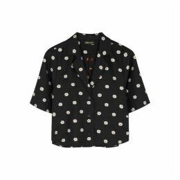 Stine Goya Athena Black Embroidered Shirt