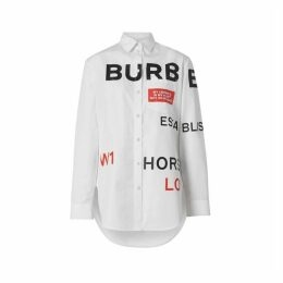 Burberry Horseferry Print Cotton Oversized Shirt