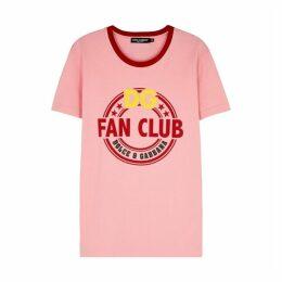 Dolce & Gabbana Pink Printed Cotton T-shirt