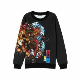 Balmain Printed Cotton Sweatshirt