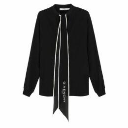 Givenchy Black Silk Crepe De Chine Blouse