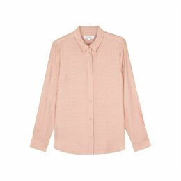 Equipment Leema Light Pink Leopard-print Jacquard Shirt