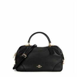 Coach Lane Black Pebbled Leather Shoulder Bag