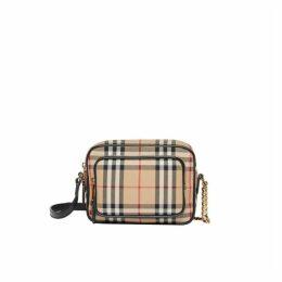 Burberry Vintage Check Cotton Camera Bag