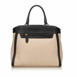 Prada Brown Canvas Tote Bag