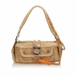 Dior Brown Mouton Flight Shoulder Bag