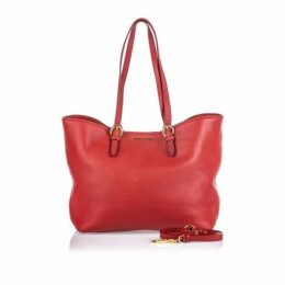 Miu Miu Red Vitello Daino Shopping Bag