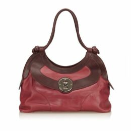Mulberry Pink Two Toned Leather Shoulder Bag