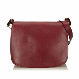 CARTIER Red Leather Must De Cartier Shoulder Bag
