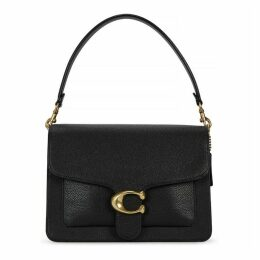 Coach Tabby Black Grained Leather Shoulder Bag
