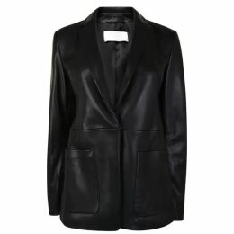 Boss Sanewton Leather Blazer