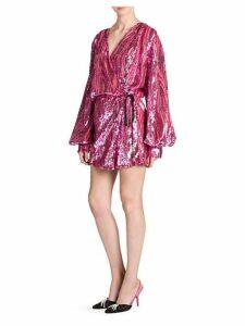 Sequin Robe Mini Dress