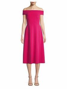 Off-The-Shoulder Flare Dress