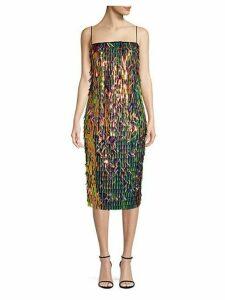Nickie Matchstick Paillette Camisole Dress