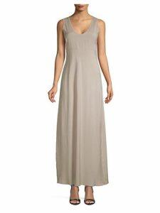 Classic Stretch Silk Floor-Length Dress