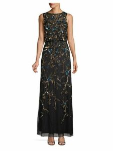 Floral Beaded Gown