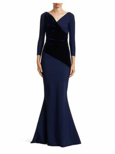 Erendira Velvet MM Long Sleeve Gown