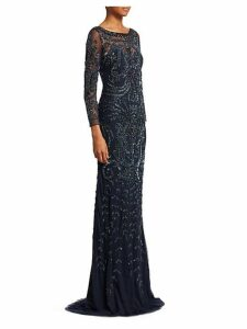 Tulle Embroidered Gown