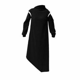 Katherine Hooker - Stafford Dress In Silver Kaleidoscope Silk