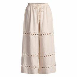 GISY - Primrose Lace Trim Cotton Pants