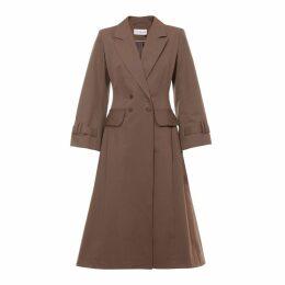 Talented - A Line Coat Khaki