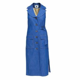 DIANA ARNO - Arlene Sleeveless Coat In Blue Denim
