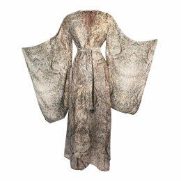Baukjen - Neesha Wrap Dress In Black & White Brush Print
