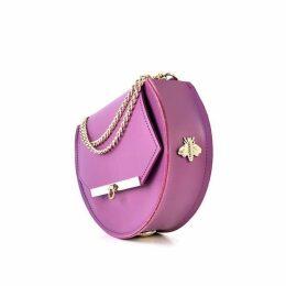 Angela Valentine Handbags - Loel Mini Military Bee Bag Clutch In Lavender