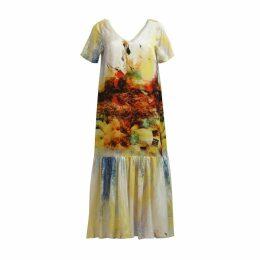 MATSOUR'I - Silk Dress Iris Yellow