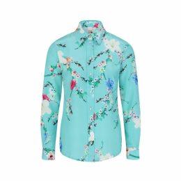 Sophie Cameron Davies - Mint Blossom Silk Shirt