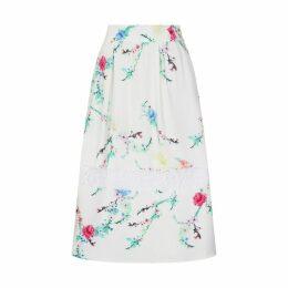 Sophie Cameron Davies - White Blossom Midi Skirt