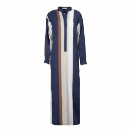 A-line Clothing - Long Multistripe Overshirt Dress