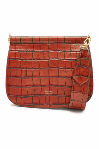 Max Mara Sylvia Embossed Leather Shoulder Bag