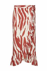 Anine Bing Lucky Printed Wrap Skirt