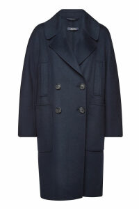 S Max Mara Aronaci Virgin Wool Coat