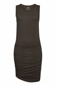 Velvet Macey Cotton Dress with Draped Sides