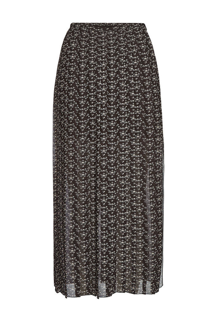 See by Chlo © Printed Pleated Skirt with Slits